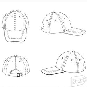 冬季帽子手绘设计图