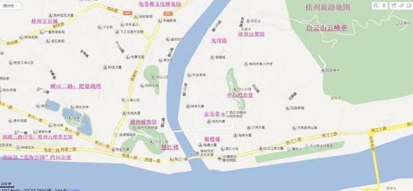 梧州旅游景点地图