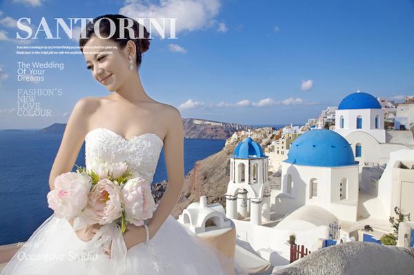 欧洲婚纱,爱琴海婚礼,圣托里尼婚纱摄影