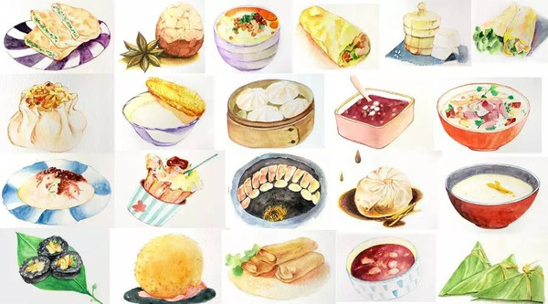 这姑娘画了南京30种早餐,而你吃过吗