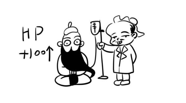 手绘漫画q版萌关羽
