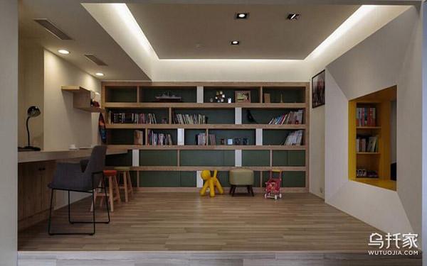 2. 敞开式书房装修效果图图二:小卧室敞开式书房装修效果图-书房装