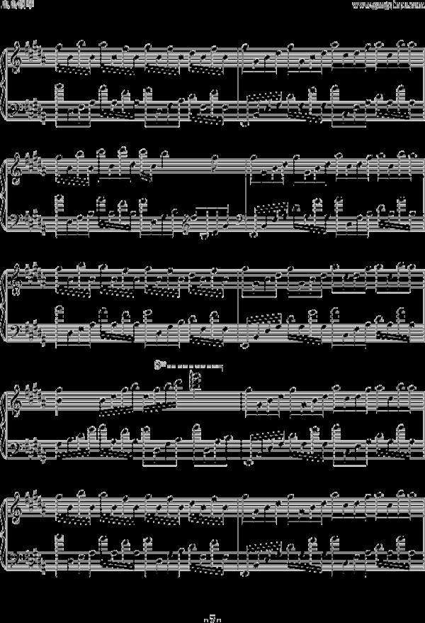 史上最忧伤美钢琴曲(曲谱一)