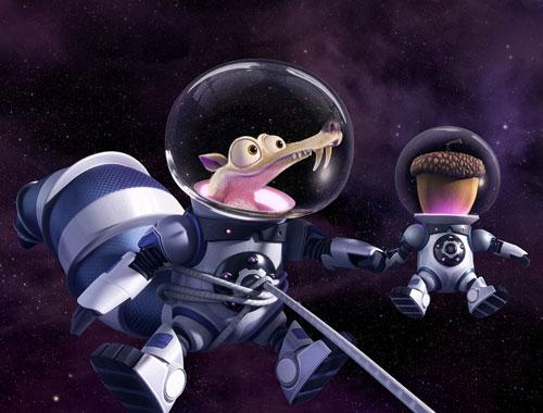 小松鼠和松果在太空