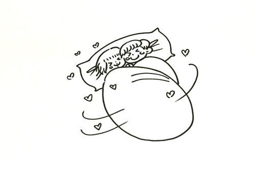 《致我们终将到来的爱情》手工简笔画