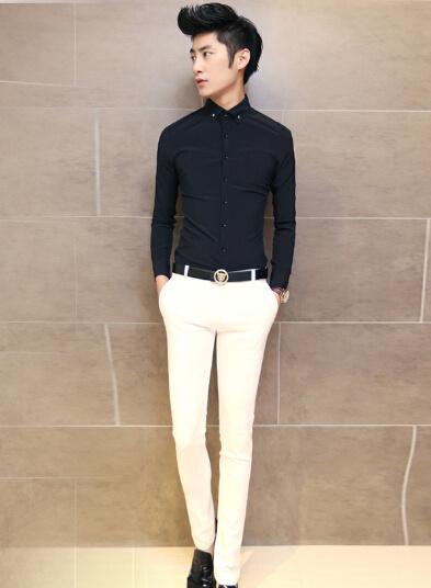 黑色衣服搭配什么褲子更時尚圖片