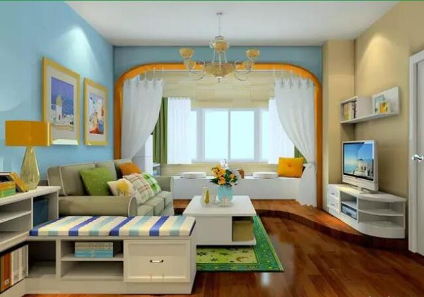 無碼專區影音先_依靠隔斷柜把房間劃分成3個區域:餐廳,影音區,休閑區.