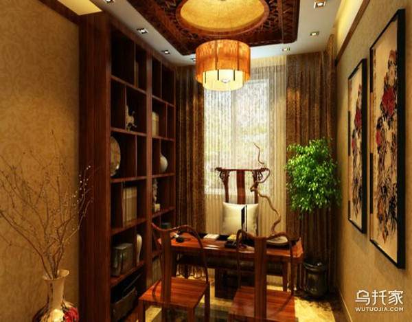 最新中式书房装修效果图大全图片