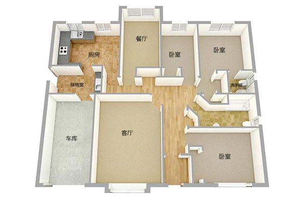 新农村自建房平房13.8X10米3大间含平面图