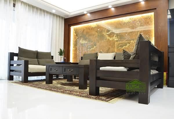 实木沙发 客厅沙发 转角沙发图片欣赏