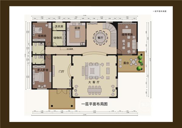 驻马店新蔡自建800平米别墅装修 欧式风格范例