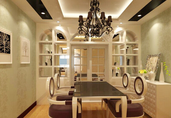 精选100款客厅玄关隔断+客厅餐厅隔断装修效果图集