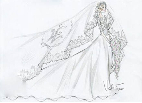 新娘婚纱手绘图片