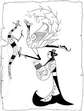 简笔画 手绘 线稿 350_462 竖版 竖屏