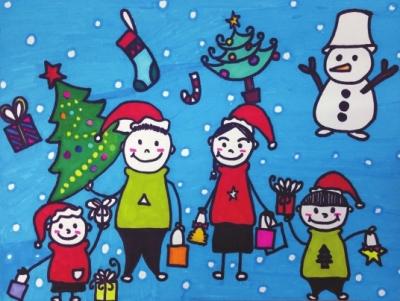 """圣诞将至,""""与我的他/她,共同绘画一幅爱的明信片""""优秀"""