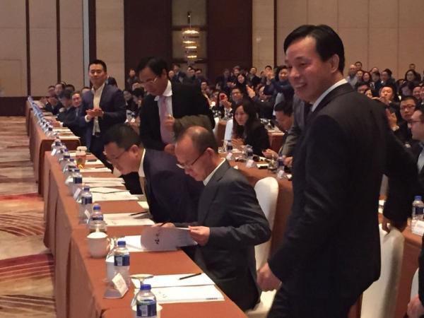 12月14日,复星集团董事长郭广昌现身出席复星2015年度工作会议。