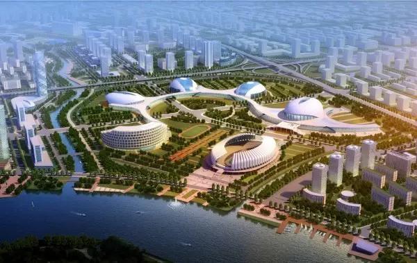 """是宁波正式提出""""两江北岸""""开发战略的重要区块之一,区域为集奥体中心图片"""