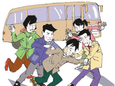 我在公交车上被强漫画