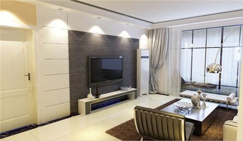 现代客厅电视背景墙壁纸效果图大全客厅壁纸装修