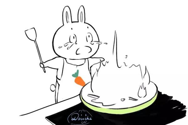 手绘 跟妈妈学做饭