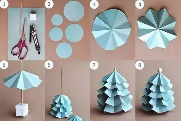 立体圆形折纸粘贴画
