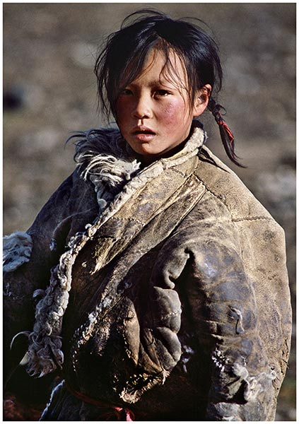 1986-青海-黄河源头藏族小姑娘