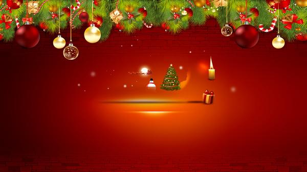 如何用ppt制作一副圣诞海报动画?