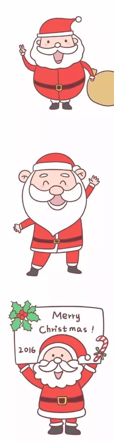 可以教宝宝画的圣诞节简笔画