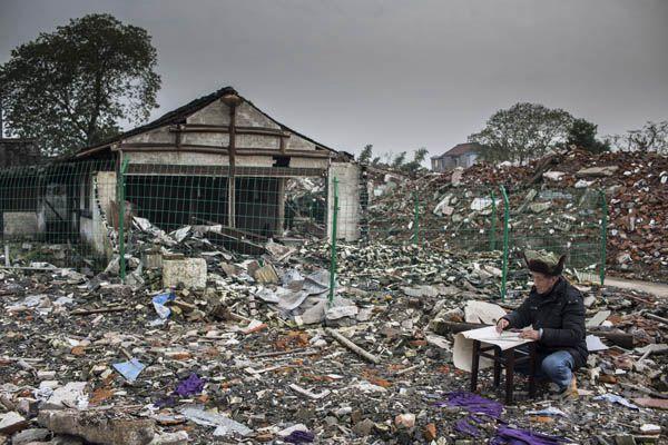 矛盾纠结中的百年江南水乡:绍兴三江村因环境污染致整体搬迁(组图)