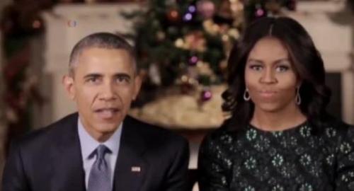奥巴马夫妇发表圣诞讲话 感谢军人及其家属(图)