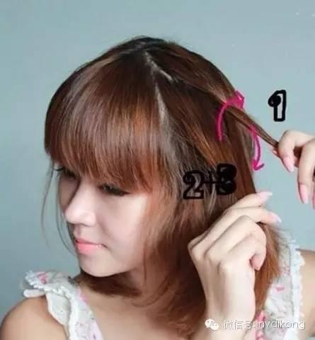 学生头发编辫子图片