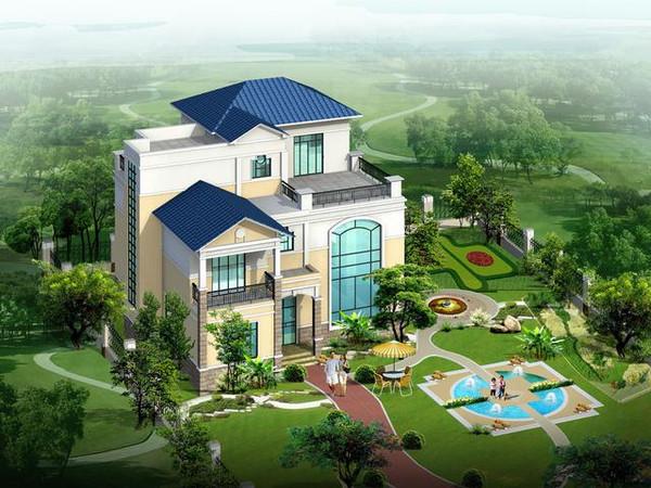农村小别墅设计图三层错层建筑施工CAD图纸图片