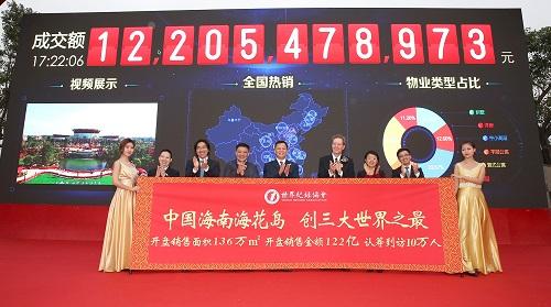 中国经济网儋州12月28日讯(记者 李方) 备受关注的海南海花岛旅游项目今日正式开盘,自本月19日开始解筹以来,超10万人来岛看房,截至此次开盘,总成交金额达122.05亿元,创下多项纪录。
