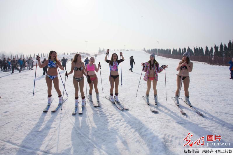 山东济南章丘一滑雪场