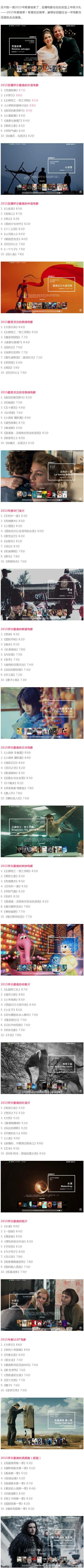 【榜單】豆瓣電影2015年度榜單,今年最好的電影都在這里了!