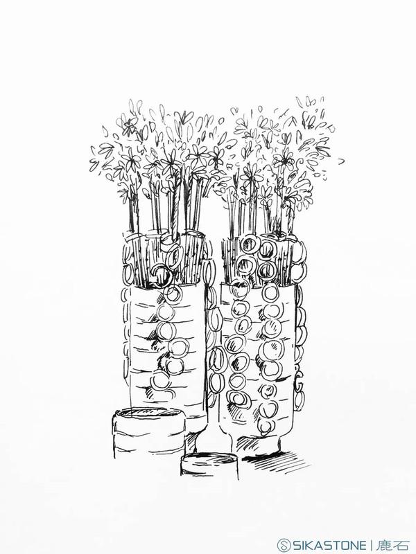 打一组商业空间花艺设计好牌, 手绘就是王炸