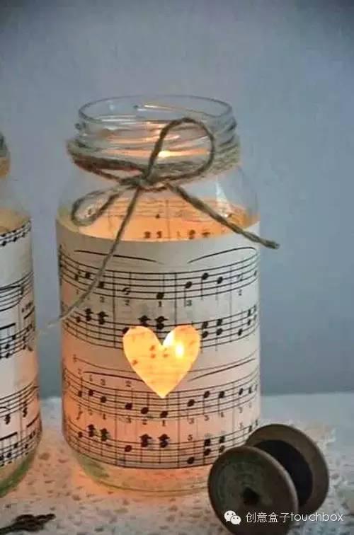 家里的那些玻璃瓶,也是diy節日彩燈的夢幻靈感   將led燈裝進長口瓶子圖片