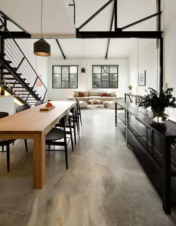 功能分区但不分隔:16个客厅餐厅一体化设计案例