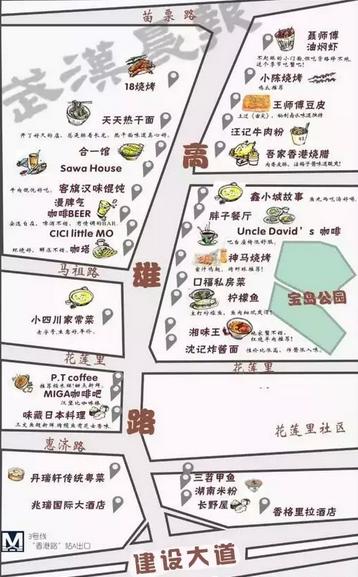 ▼手绘地图