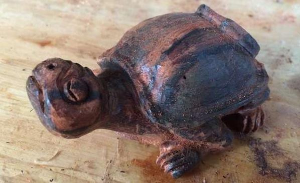 乌龟雕刻过程图解