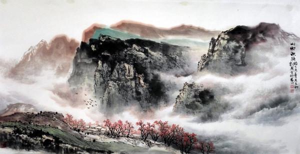 记忆2015:刘东方中国山水画作品精选图片
