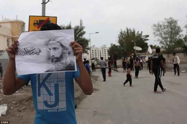 沙特阿瓦米亚的示威者