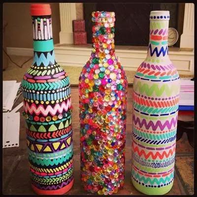 彩绘bling bling酒瓶
