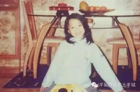 梁宝怡曾遭受家庭变故,在她高二时,父亲的离世让她渴望一个完整美满的家庭。图为梁宝怡童年照。