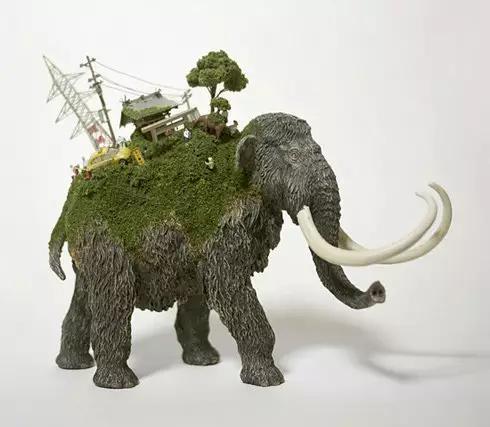 一个乌龟驮着一棵树,一不小心联系到小时候看过的神话故事.   有山图片