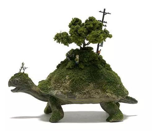 一个乌龟驮着一棵树,一不小心联系到小时候看过的神图片