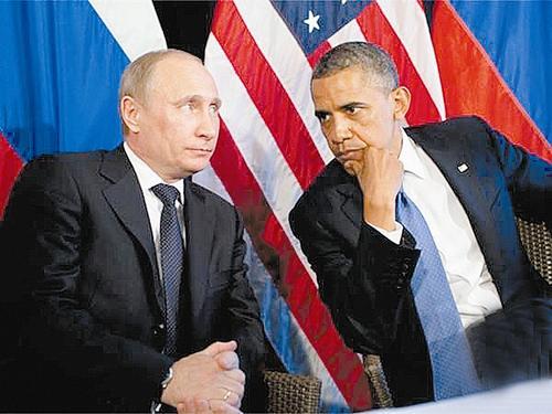 普京和奥巴马