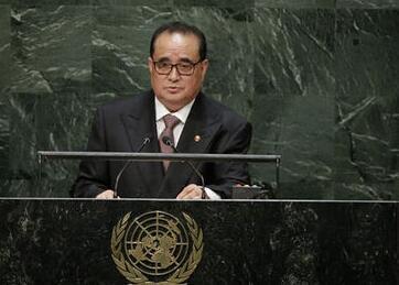 资料图片:朝鲜外长李洙墉。