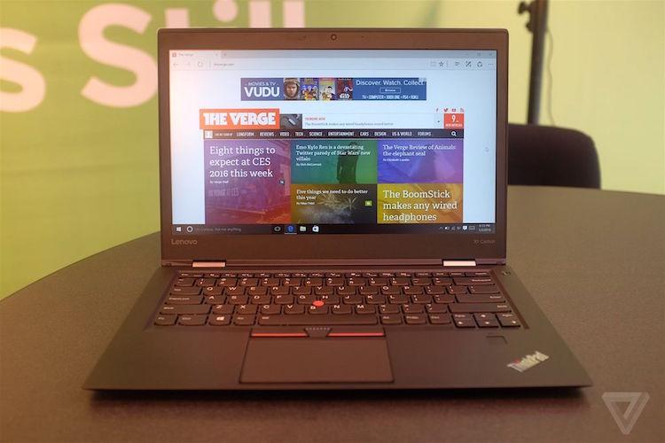 新款 ThinkPad X1 Carbon 与旧版相比变化不大,最高配置为酷睿 i7 处理器,配有 1TB 固态硬盘。电池续航可达 11 小时。分辨率也可选 2560×1440 和 1920×1080,厚度为 16.5 毫米,重约 1.18 千克。