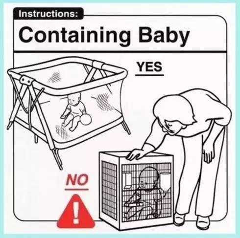 """搞笑的国外婴儿""""使用说明书"""""""